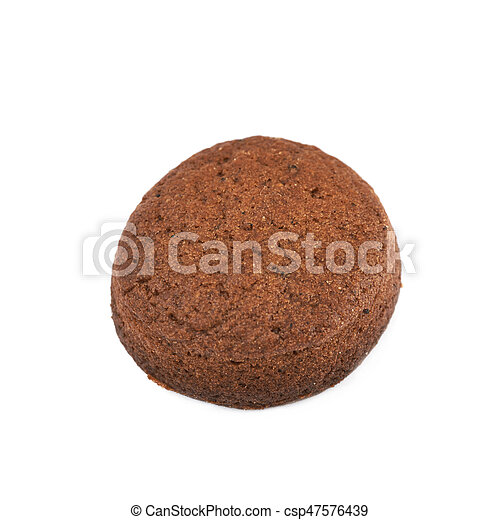 Fresh baked ginger cookie isolated - csp47576439