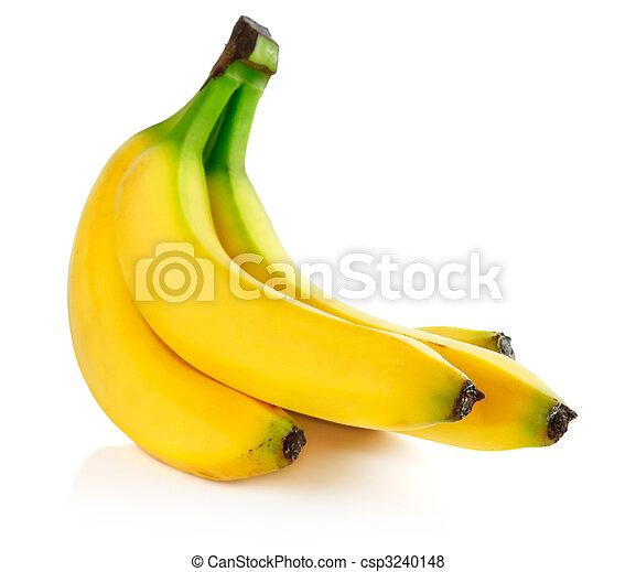 fresh banana fruits isolated on white - csp3240148