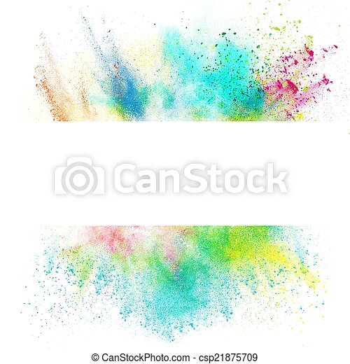 Fresh banner with colorful splash effect - csp21875709