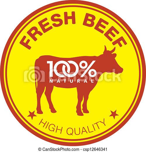 Fresh beef label - csp12646341