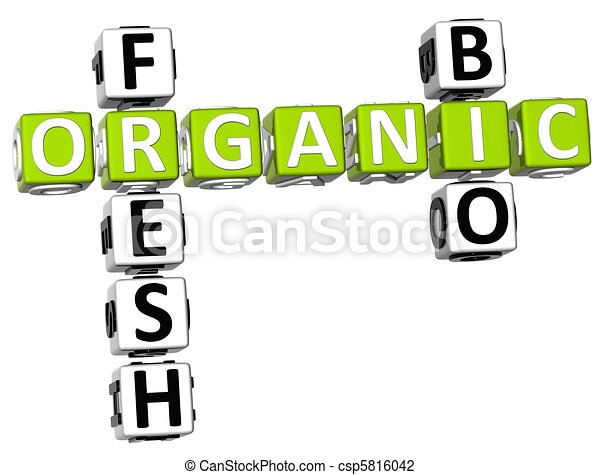 Fresh Bio Organic Crossword - csp5816042