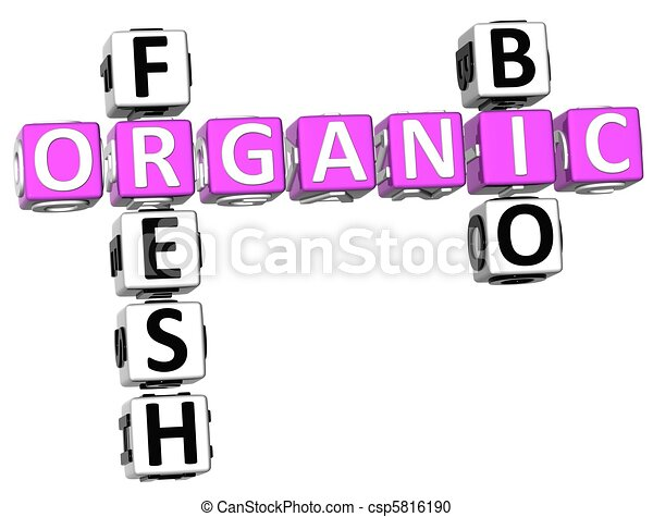 Fresh Bio Organic Crossword - csp5816190