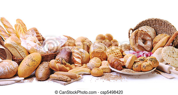 fresh bread food group - csp5498420
