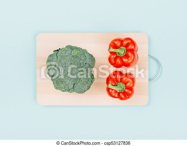 Fresh broccoli and bell peppers - csp53127836