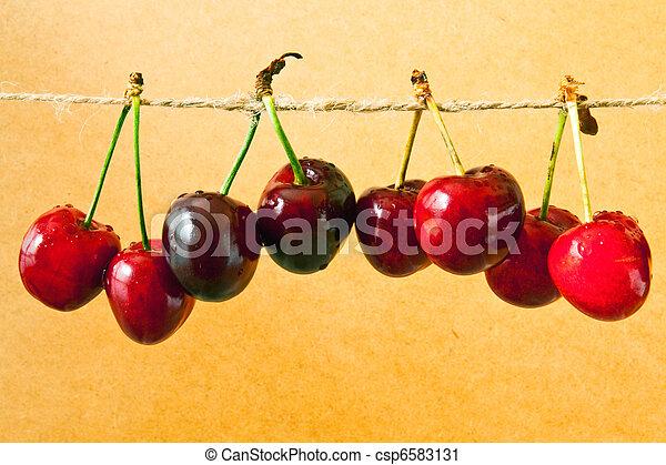 Fresh cherries - csp6583131