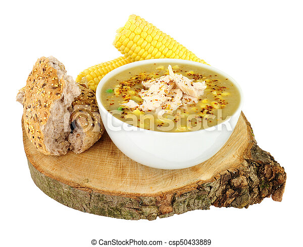 Fresh Chicken And Sweetcorn Soup - csp50433889