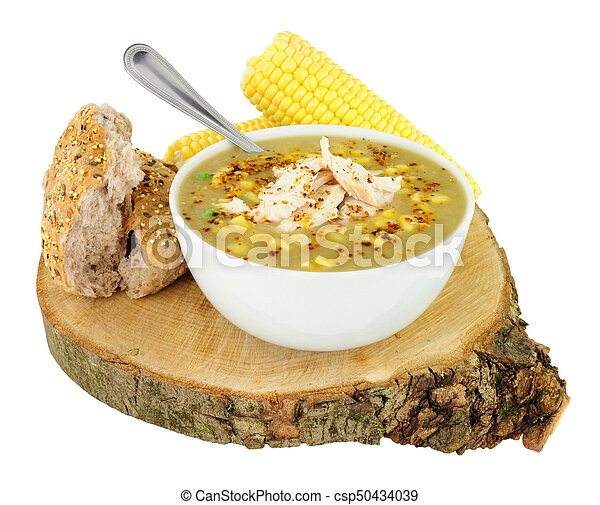 Fresh Chicken And Sweetcorn Soup - csp50434039