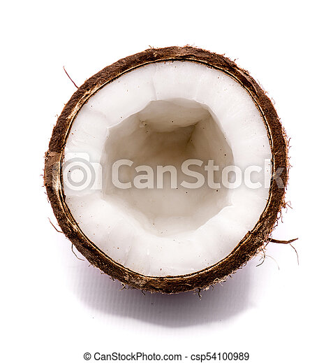 Fresh coconut isolated on white - csp54100989