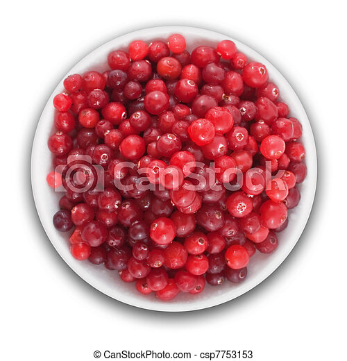 fresh cranberries on a plate - csp7753153