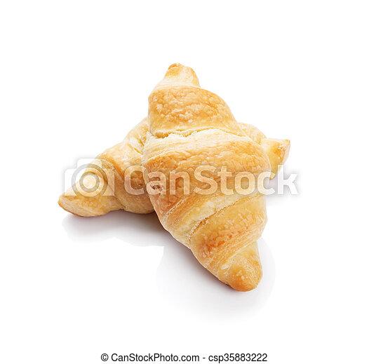 Fresh croissants - csp35883222