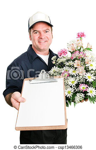 Fresh Flowers Delivered with Message For You - csp13466306