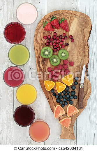 Fresh Fruit and Health Drinks - csp42004181