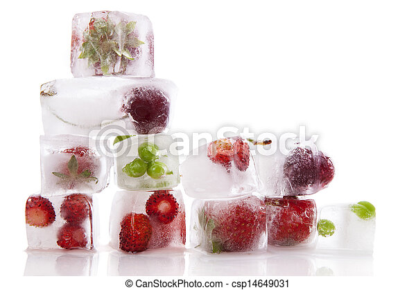 Fresh fruit and vegetable background. - csp14649031