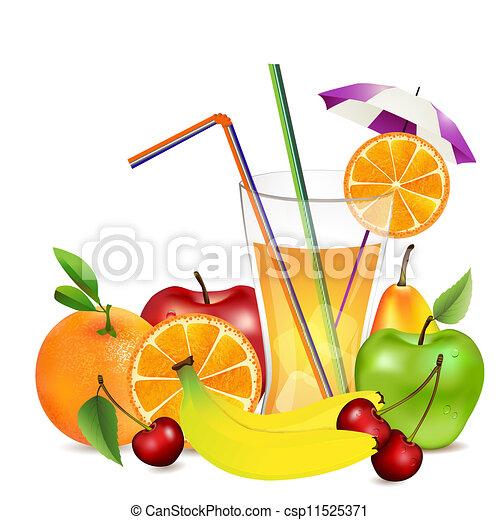 Delightful Fresh Fruit And Juice