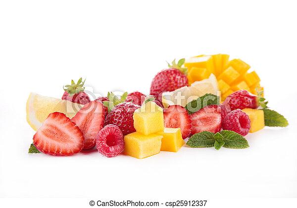 fresh fruit isolated - csp25912337