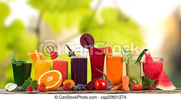 Fresh fruit juice, healthy drinks. - csp20801274