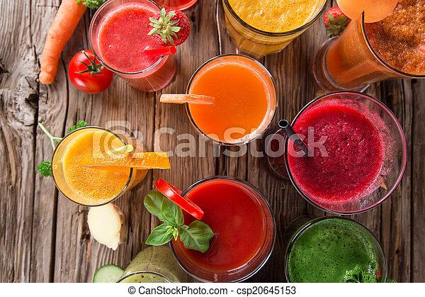 Fresh fruit juice, healthy drinks. - csp20645153