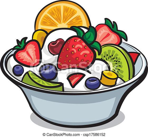 fresh fruit salad rh canstockphoto com fresh fruit salad clipart Fruit Clip Art
