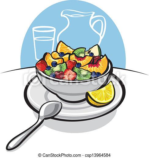 fresh fruit salad vector search clip art illustration drawings rh canstockphoto com fruit salad clipart png fruit salad clipart black and white