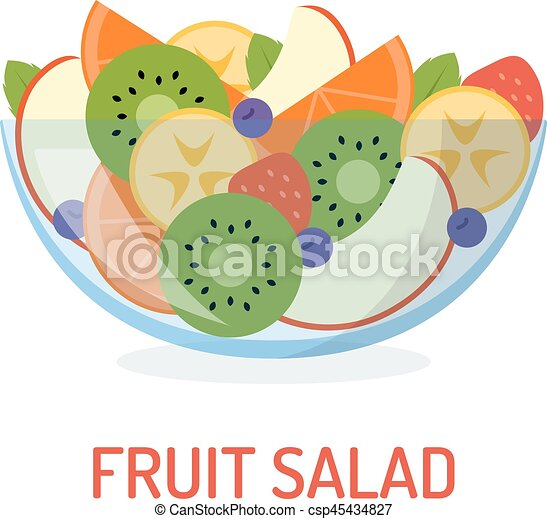 fresh fruit salad mixed fruit salad in a glass bowl isolated on rh canstockphoto com Animated Fruit Salad Fruit Cup Clip Art
