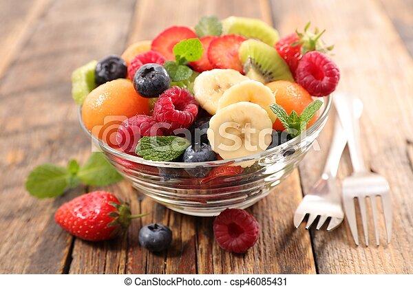 fresh fruit salad - csp46085431