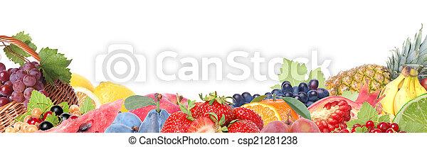 Fresh fruit - csp21281238