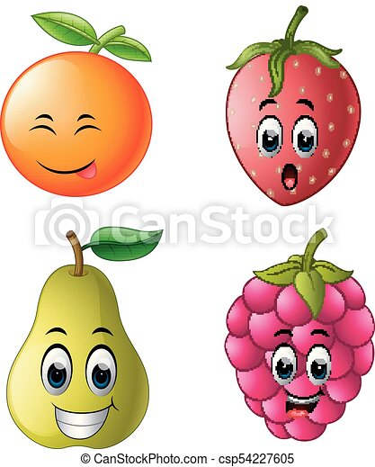 fresh fruit with face - csp54227605