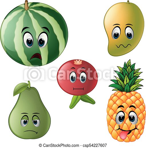 fresh fruit with face - csp54227607