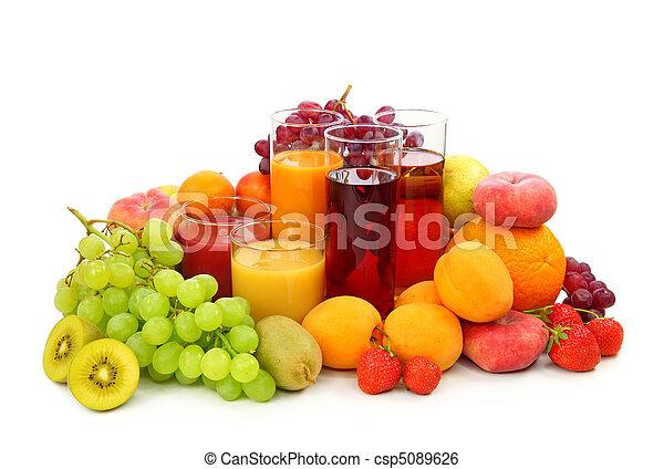 Fresh fruits and juice - csp5089626