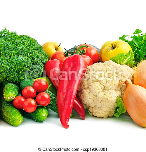 fresh fruits and vegetables - csp19360081