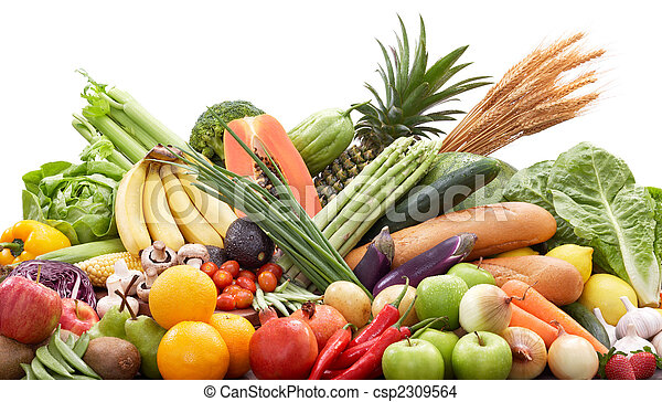 fresh fruits and vegetables - csp2309564