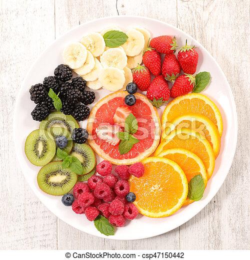 fresh fruits for breakfast - csp47150442