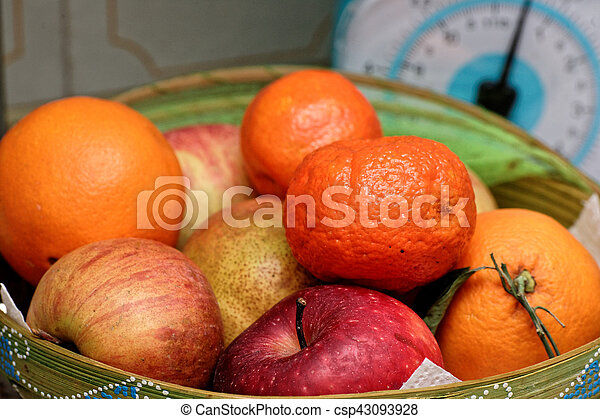 Fresh fruits in a basket - csp43093928
