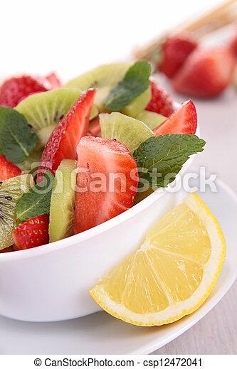 fresh fruits salad - csp12472041