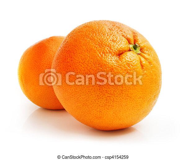 fresh grapefruit fruit isolated on white - csp4154259