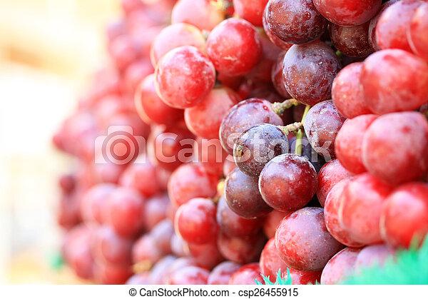 Fresh grapes - csp26455915