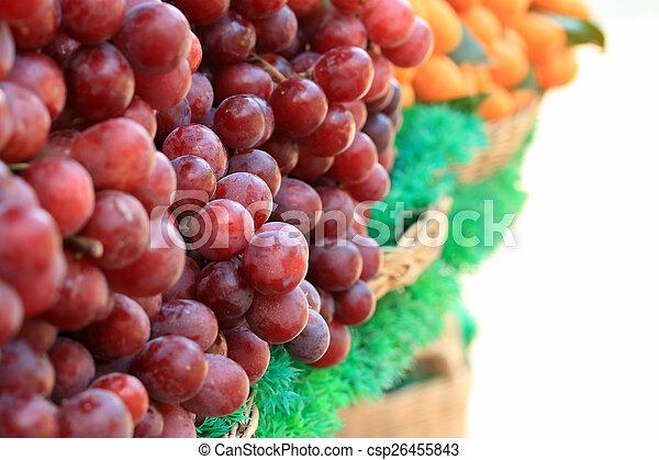 Fresh grapes - csp26455843