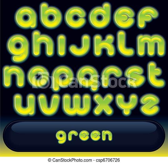 Fresh Green Font - csp6706726