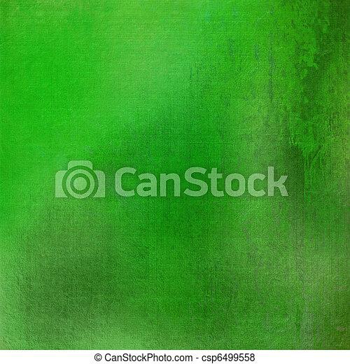 fresh green grunge stained textured background - csp6499558