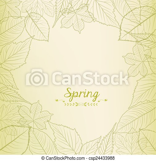 Fresh green leaves background - csp24433988