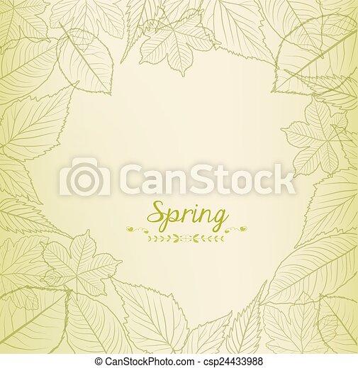 Fresh green leaves background - csp24433988