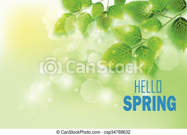 Fresh green leaves  - csp34768632