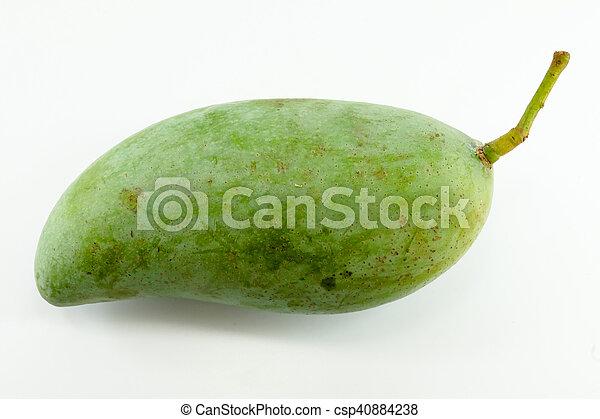 fresh green mango fruit isolated - csp40884238