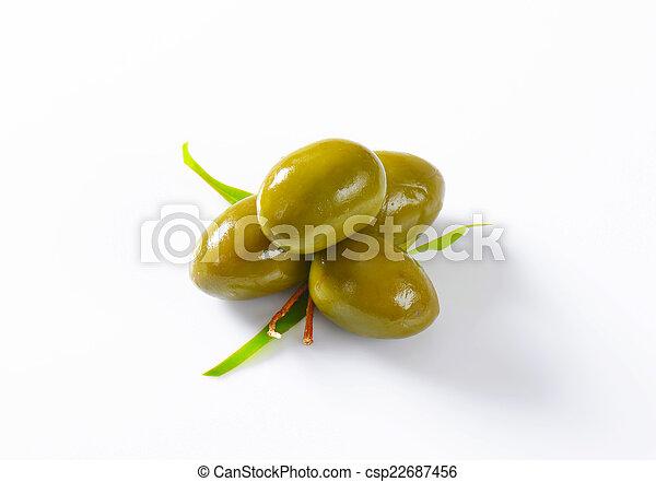 Fresh Green Olives - csp22687456