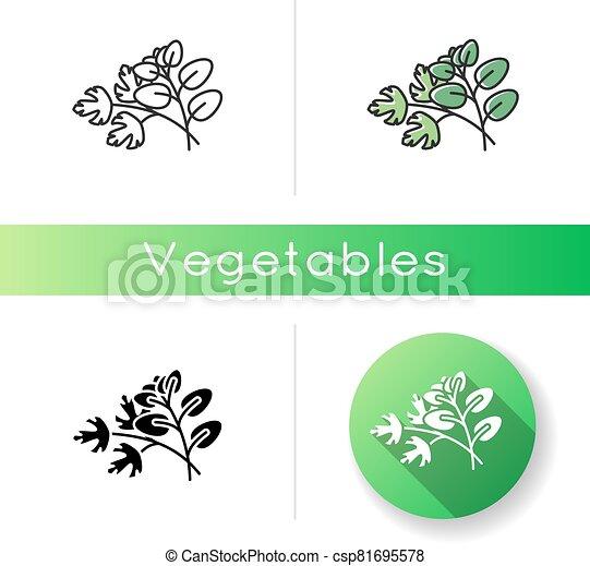 Fresh herbs icon - csp81695578
