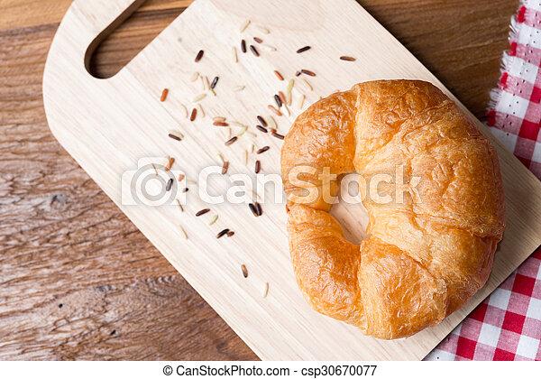 Fresh homemade croissants - csp30670077