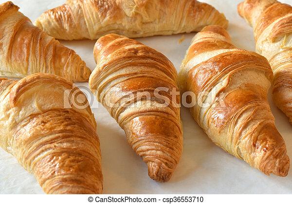 fresh homemade croissants - csp36553710