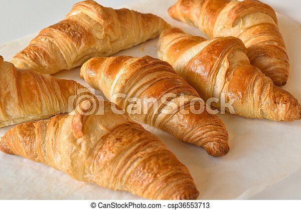 fresh homemade croissants - csp36553713