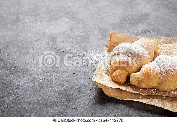 Fresh homemade croissants - csp47112778