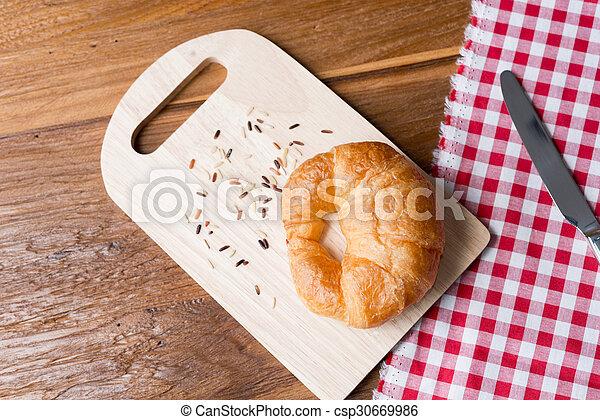 Fresh homemade croissants - csp30669986